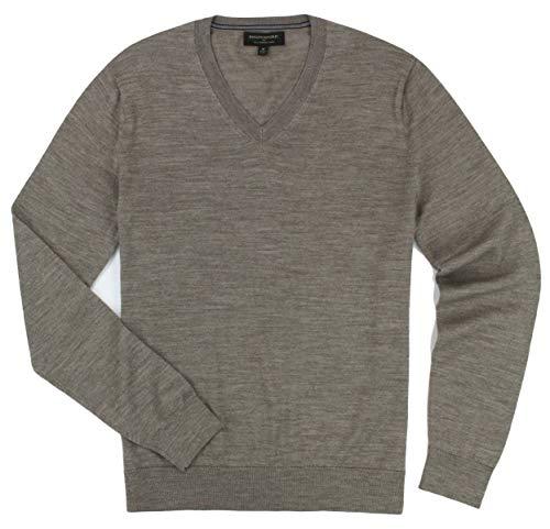 Men Banana Republic Sweater (Banana Republic - Men's - Merino Wool V-Neck Sweater (Multiple Color/Size Options) (Medium, Mushroom))