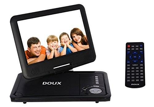 DOUX 9-Inch Screen Portable DVD/CD/MP Player with 5 Hour Built-In Rechargeable Battery, USB/SD Card Reader, Worth Your Trust and Choose (Black)