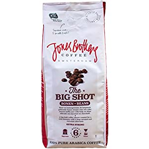 Jones Brothers Coffee - 100% Arabica Dark Roast Espresso Coffee Beans - Whole Bean Bag (17.6 oz) (THE BIG SHOT)