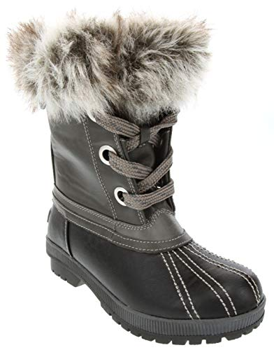 London Fog Milly Cold Weather Watrproof Snow Boot Black 10
