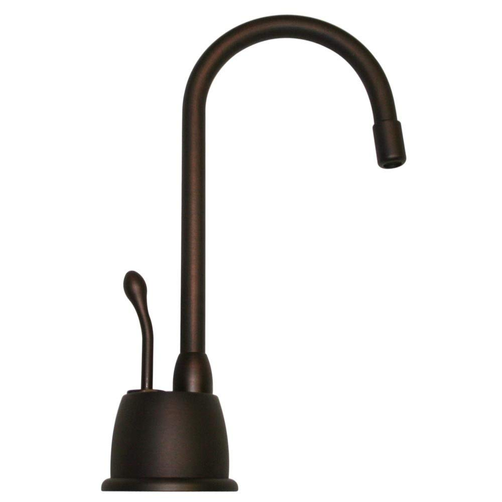 Whitehaus WHFH-H4640-MABRZ Forever Hot 4 1/8-Inch Instant Hot Water Dispenser with Gooseneck Spout and Self Closing Handle, Mahogany Bronze (Renewed)