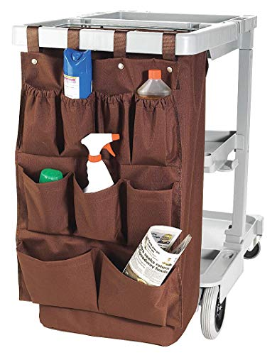 Nine Pocket Caddy Bag, 32 in L, Brown