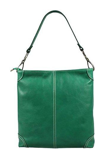 Schöne praktische Leder Ginevra Segnale Verde über die Schulter