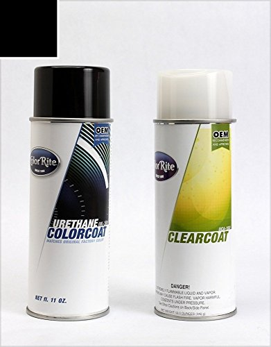 ColorRite Aerosol Automotive Touch-up Paint for BMW All - Jet Black Clearcoat 668 - All-Inclusive Package