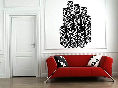 (Tomikko Wall Vinyl Sticker Decal Decor Room Design Casino Poker Chips Game Play bo2088 | Model DCR - 250)