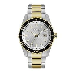 Bulova Men's Two Tone Diver Watch 98A198