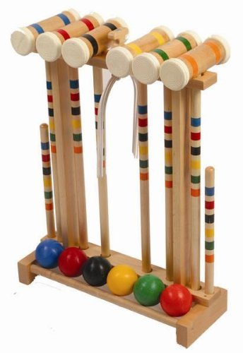 Amish Made Croquet Set game- 6 player- Durable- Hardwood by Framco by Framco (Image #1)