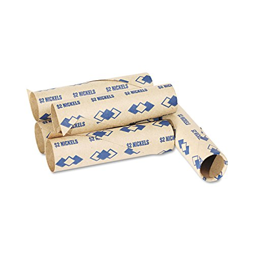 PM Company 65070 Preformed Tubular Coin Wrappers, Nickels, 2, 1000 Wrappers/Carton