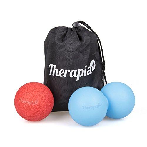 Therapia Plus Massage Balls Deep Tissue - Peanut Massage Ball & Hard Massage Ball - Pack of Two - Massage Ball for Back Deep Tissue Double Massage Ball with Soft Massage Lacrosse Ball