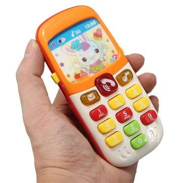 Electronic Toys Kid Mobile Cellphone Telephone Educational Early Toddlers Learning Musical Sound Puzzle Gifts by Completestore from Completestore