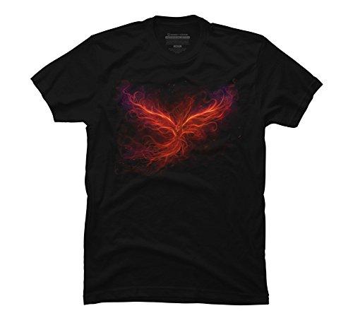 The Phoenix Rise Men's X-Large Black Graphic T Shirt - Design By Humans