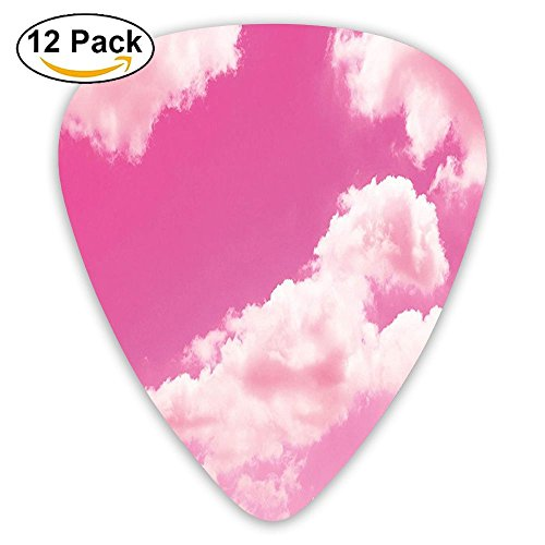 Newfood Ss Pink Sky With Clouds Conceptual Airy Fantasy Dream Soft Spring Sweet Sunset Guitar Picks 12/Pack Set ()