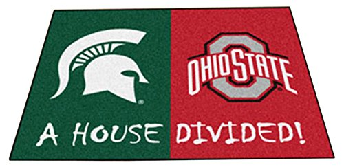 Fanmats 22316 Michigan Ohio State House Divided Rug State House Divided