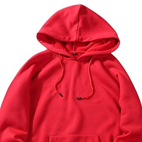 Sweat Hommes Poche Automne Rouge Manches D'hiver Garçons shirts Hoodies À Longues Windy5 RBgwUqU