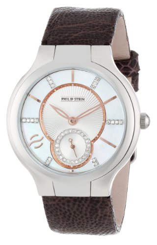 Philip Stein Women's 41-DMOPRG-OCH Analog Japanese Quartz Chocolate Ostrich Strap Watch