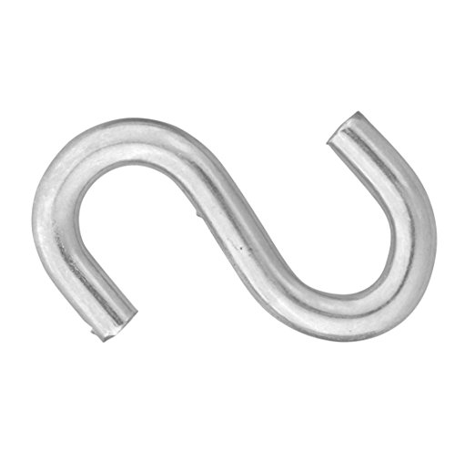 Symmetry Zinc Plated S-Hooks #7 x 1-1/2-inch, 36-Count - Zinc Plated Hook
