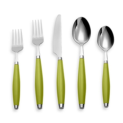Fiesta by Cambridge 5-Piece Flatware Place Setting 18/0 stainless steel in (Lemongrass)