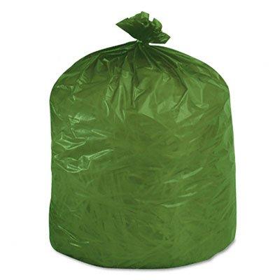 Stor-A-File G3340E11 Eco-Degradable Plastic Trash Garbage Bag, 33gal, 1.1mil, 33 x 40, Green, 40/Box