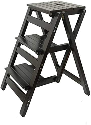 HOMRanger Taburete de Madera Maciza Escalera Plegable Multifuncional Taburete Escalera de Banco Escalera pequeña (Color: # 3): Amazon.es: Hogar
