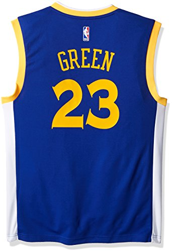 - NBA Men's Golden State Warriors Draymond Green Replica Player Road Jersey, 3X-Large, Blue