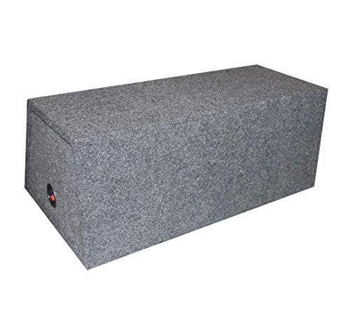 - Q Power BASS12 Dual 12-Inch Sealed Angled Subwoofer Enclosure Box