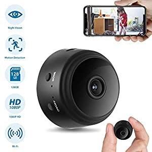 Hidden Camera, Home Security Camera WiFi, Super Night Vision 1080P Wireless Surveillance Camera, 150° Wide-Angle Lens, Nanny Cam Activity Detection Alert, Remote Monitor Phone App