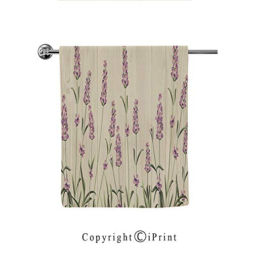 - Printing Modern Hand Towels Drying Washcloth Print Bath Towels Women Home Textile(12 x 28 Inches),Lavender,Aromatic Herbs on Wooden Planks Springtime Nature Botany Illustration,Beige Lilac Sage Green