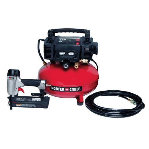 6-Gal Portable Electric Air Compressor and 18-Gauge Brad Nailer Combo Kit PCFP12236 by PORTER-CABLE