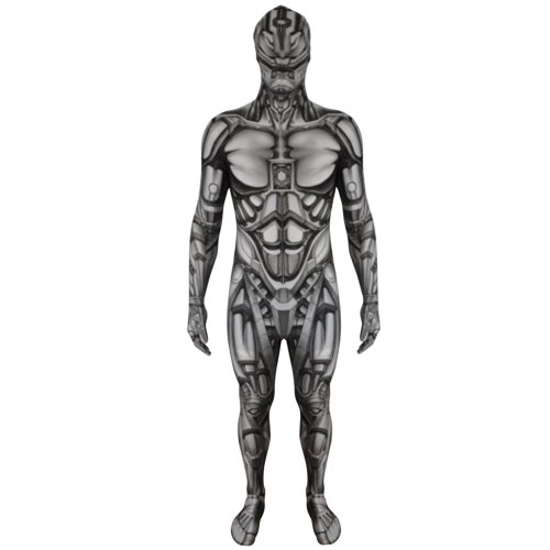 Morphsuits Kids Android Monster Costume - Large 4'-4'6/10-12