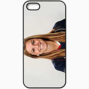 Personalized iPhone 5 5S Cell phone Case/Cover Skin Alex Morgan 423 Sports Black