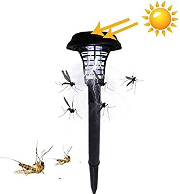 Solar Powered Outdoor Mosquito Fly Bug Insect Zapper Killer Trap Lamp Light