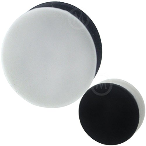 black 26 mm silicone plugs - 5