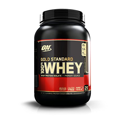 (OPTIMUM NUTRITION GOLD STANDARD 100% Whey Protein Powder, Double Rich Chocolate, 2 Pound)