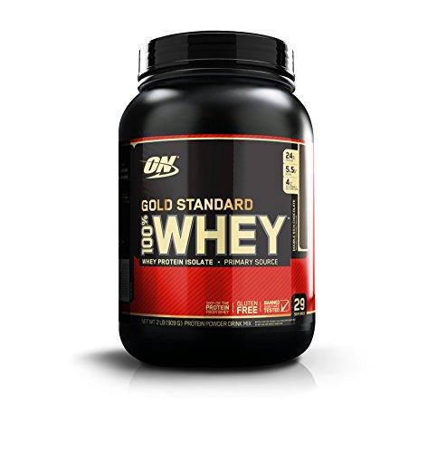 OPTIMUM NUTRITION GOLD STANDARD 100 Whey Protein Powder, Double Rich Chocolate, 2 Pound
