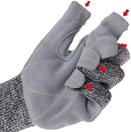 手袋 労働保険カットプルーフグローブレザー耐摩耗性グローブ強化材料高温耐性250度摂氏 LMMSP
