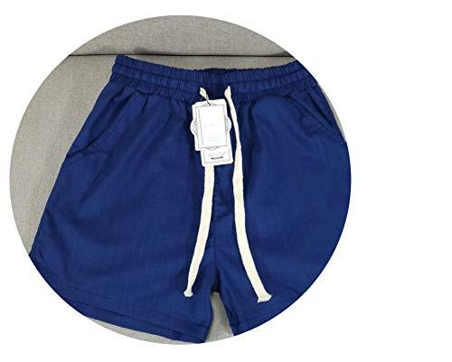 Stree Corner Summer Drawstring Loose Solid Shorts Female Mid Casual Shorts Women Comfortable Shorts,Navy Blue,5XL -
