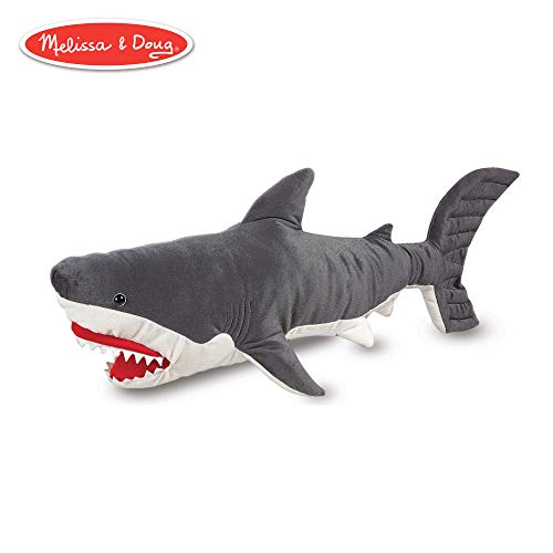 (Melissa & Doug Shark Giant Stuffed Animal (Wildlife, Soft Polyester Fabric, Beautiful Shark Markings, Handcrafted, 13