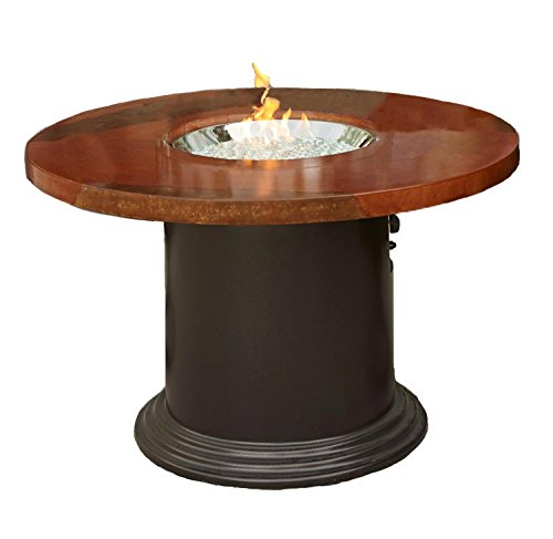 Outdoor Greatroom Colonial Dining Height Fire Pit Table, Acid Wash