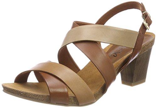 Caprice WoMen 28310 Sling Back Sandals Multicolour (Nut/Camel/Sand 346)