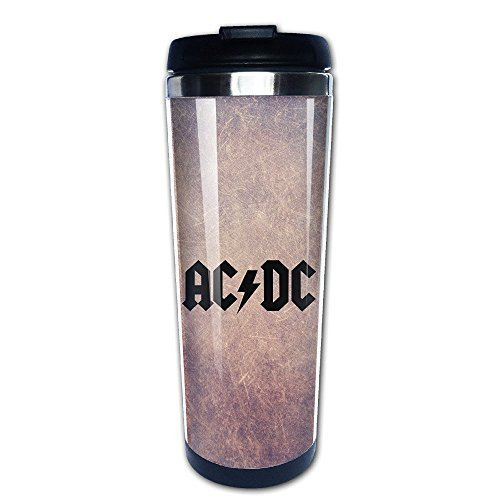 Ten Strawberry Street Van (Beaufiy AC DC ACDC Rock Band Logo Stainless Steel Travel Tumbler Coffee Mug Black)