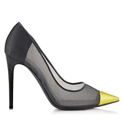Mujer Fiesta Zapatos Apuntado ZPL Gold Zapatos Alto Tacón Zapatos Elegante Boda FwqCTx6dC