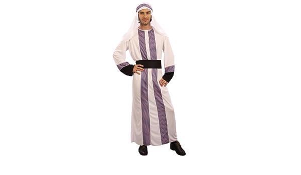 Desconocido Disfraz de jeque árabe para hombre: Amazon.es ...