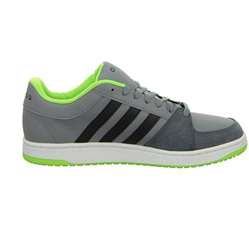 adidas VLNEO HOOPS LO II - zapatos con cordones de material sintético hombre gris - Grau (Grau)