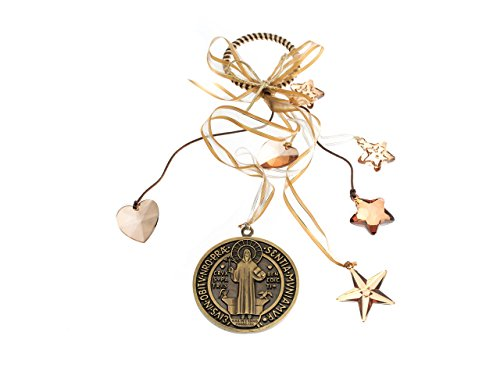 Angelitos de Mexico Saint Benedict Medal Protection for House Gift Blessing Ornament