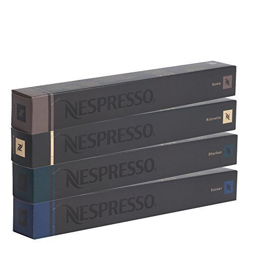 40 Nespresso OriginalLine Capsules: Roma 10, Ristretto 10, Dharkan 10, Kazaar 10  -NOT compatible with VERTUOLINE' - Nespresso Capsule