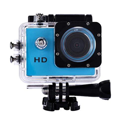 gazechimp Waterproof 1080P HD DV DVR Sports Camera for Rock Climbing, Diving, Blue (Dv Hd Transport)