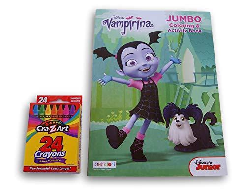 Lazy Days Vampirina 96-Page Coloring Book with Crayons -