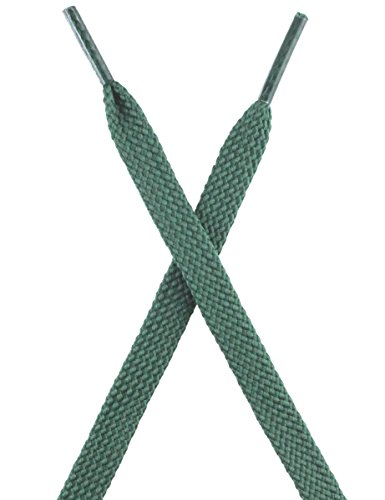 Athletic Shoelaces Thick Sneakers Shoe Laces 2 Pair(Dark Green,125) (Green Sneakers Shoes)