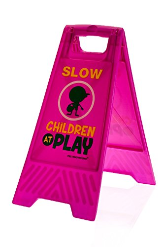 Children at Play Caution Sign (Double-Sided, Purple) -
