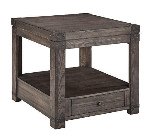 Signature Design by Ashley T846-3 Burladen Rectangular End Table